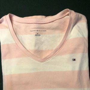 Tommy Hilfiger S new without tags pink white shirt